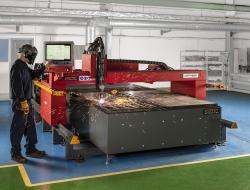 plasma machine in esprit manufacturing plant