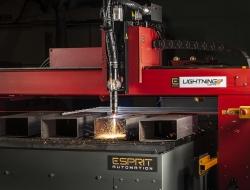 Dramatic plasma cutting machine at Esprit