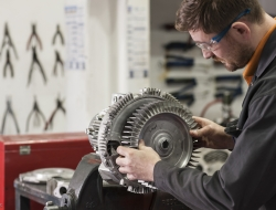 Electrical motor service repair with workman-industrial photoFletcher-Moorland