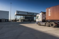 I-port-entrance with-truck