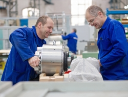 Assembly of machine part in Czech Republic-Industrial photography