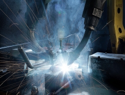 Welding detail-industrial photography