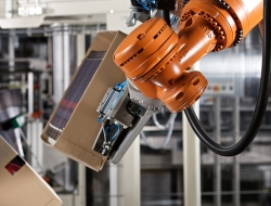 Robotic arm detail for packaging machine-Industrial photo