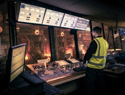 image of control room at Liberty steel Newport