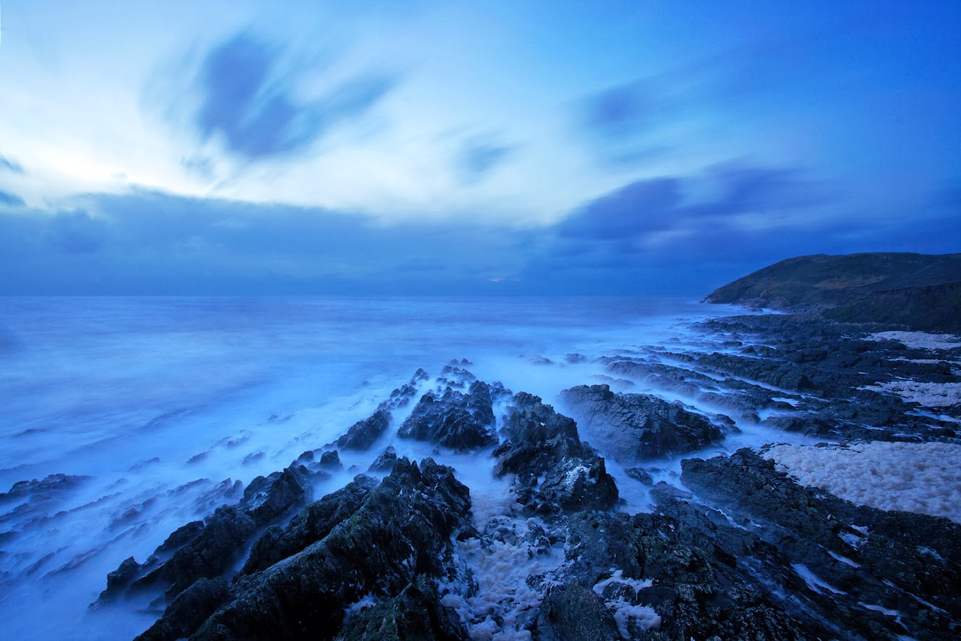 Croyde bay at night