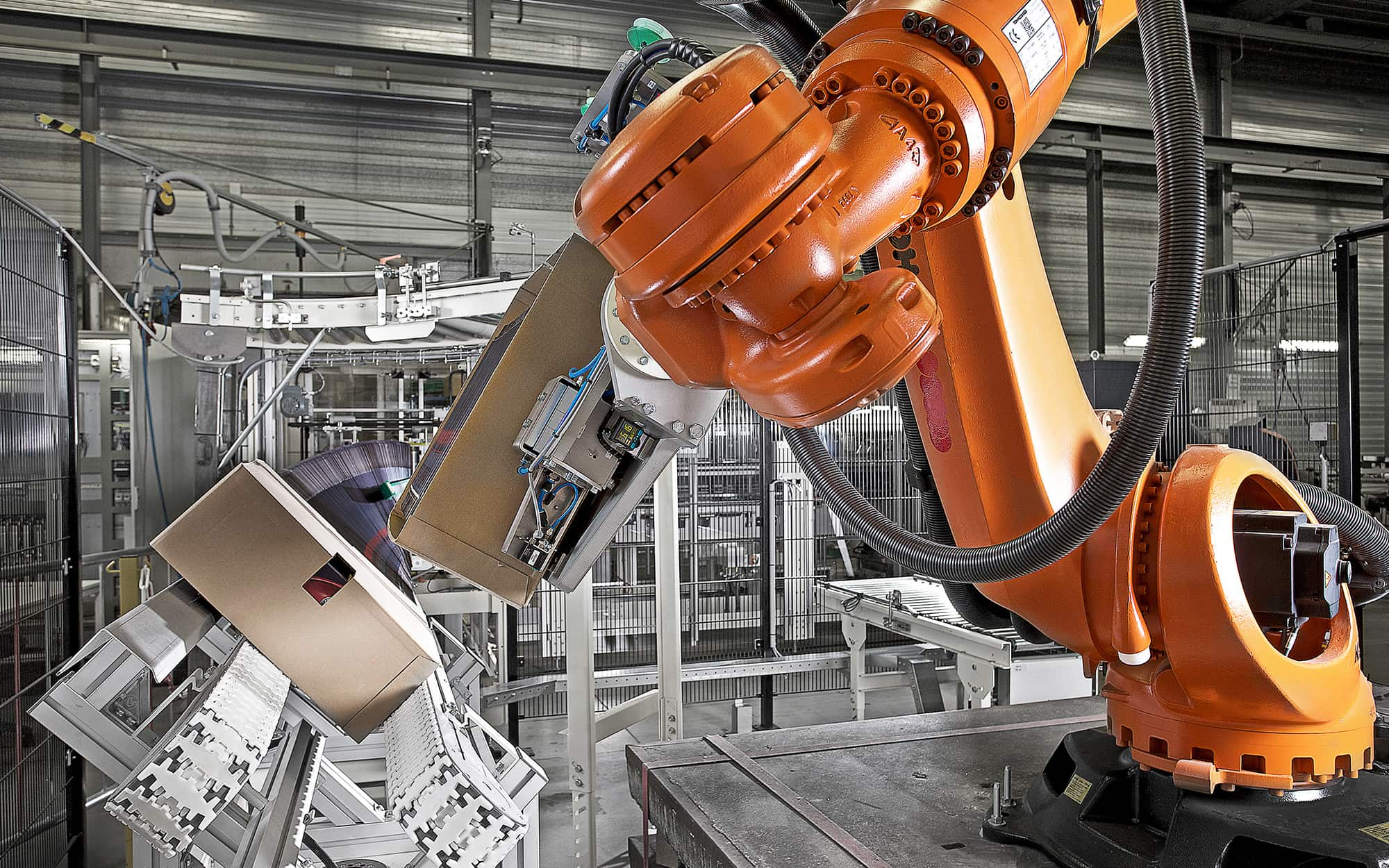 Robotic arm for packaging machines for Molins Plc Holland by Industrial photographer Ross Vincent