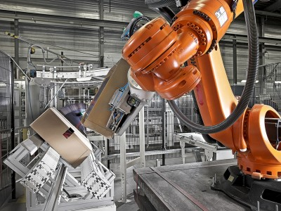 automated packaging robotic arm machine-industrial photography