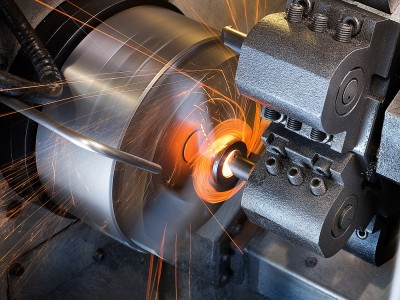 milling machine in action-industrial photography