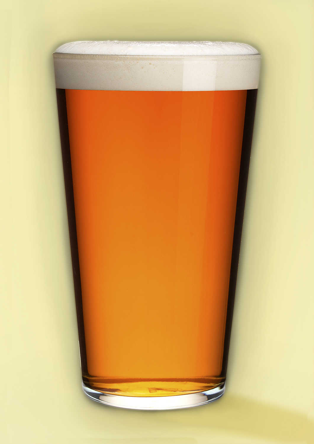 photography of a pint of wye valley's bitter studio product photography