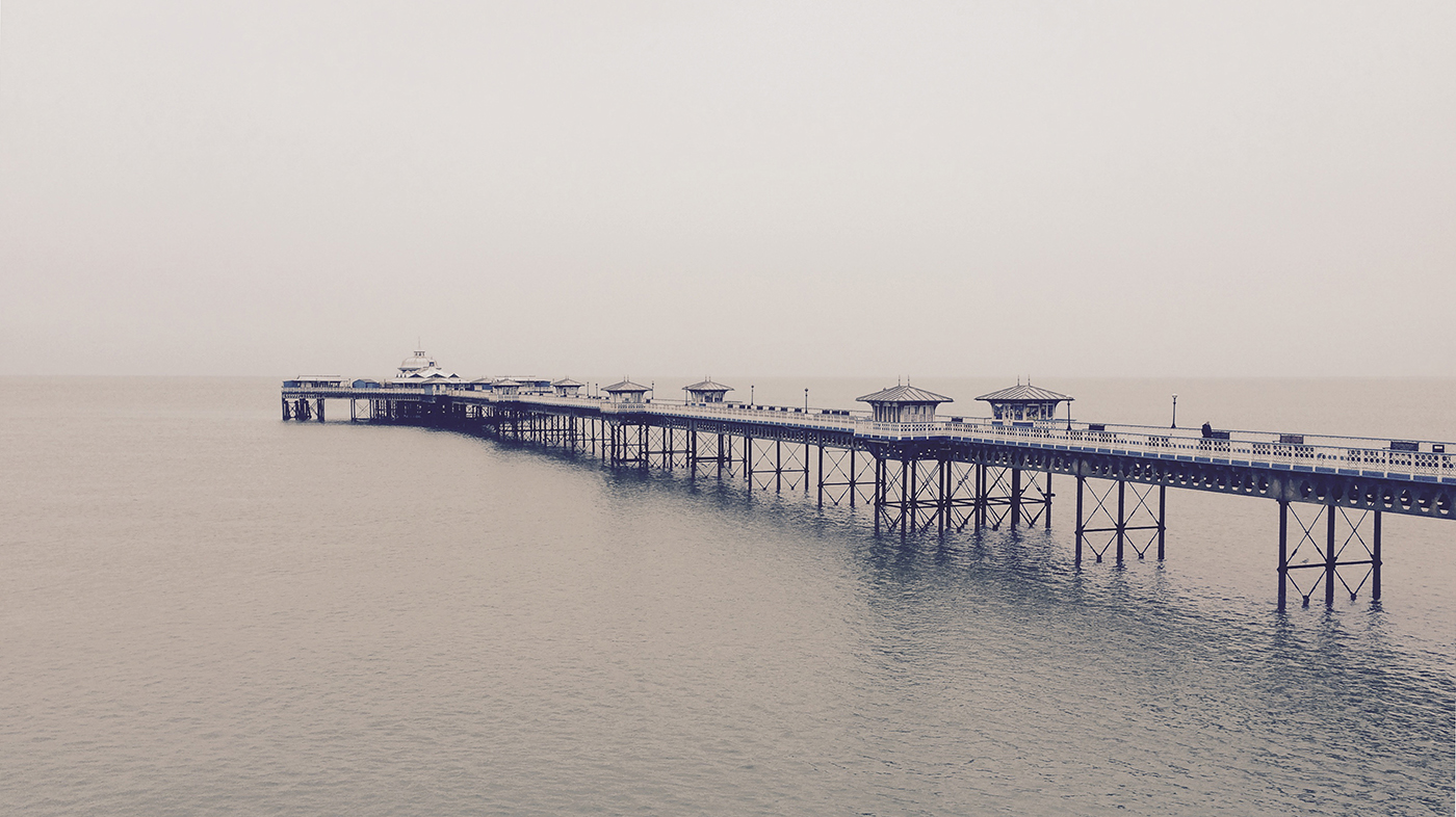 photograph of Llandudno pier north wales