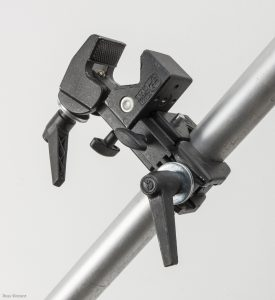 image of a Manfrotto Double clamp one of the 10 best photographic studio accessories