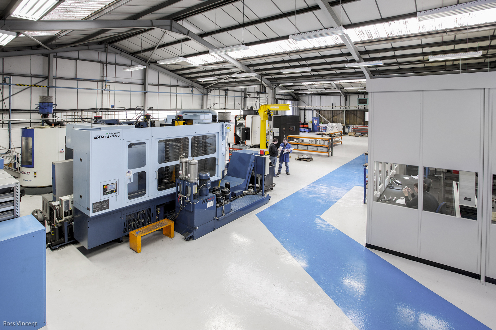 factory for Nasmyth Engineering showing clean and painted factory