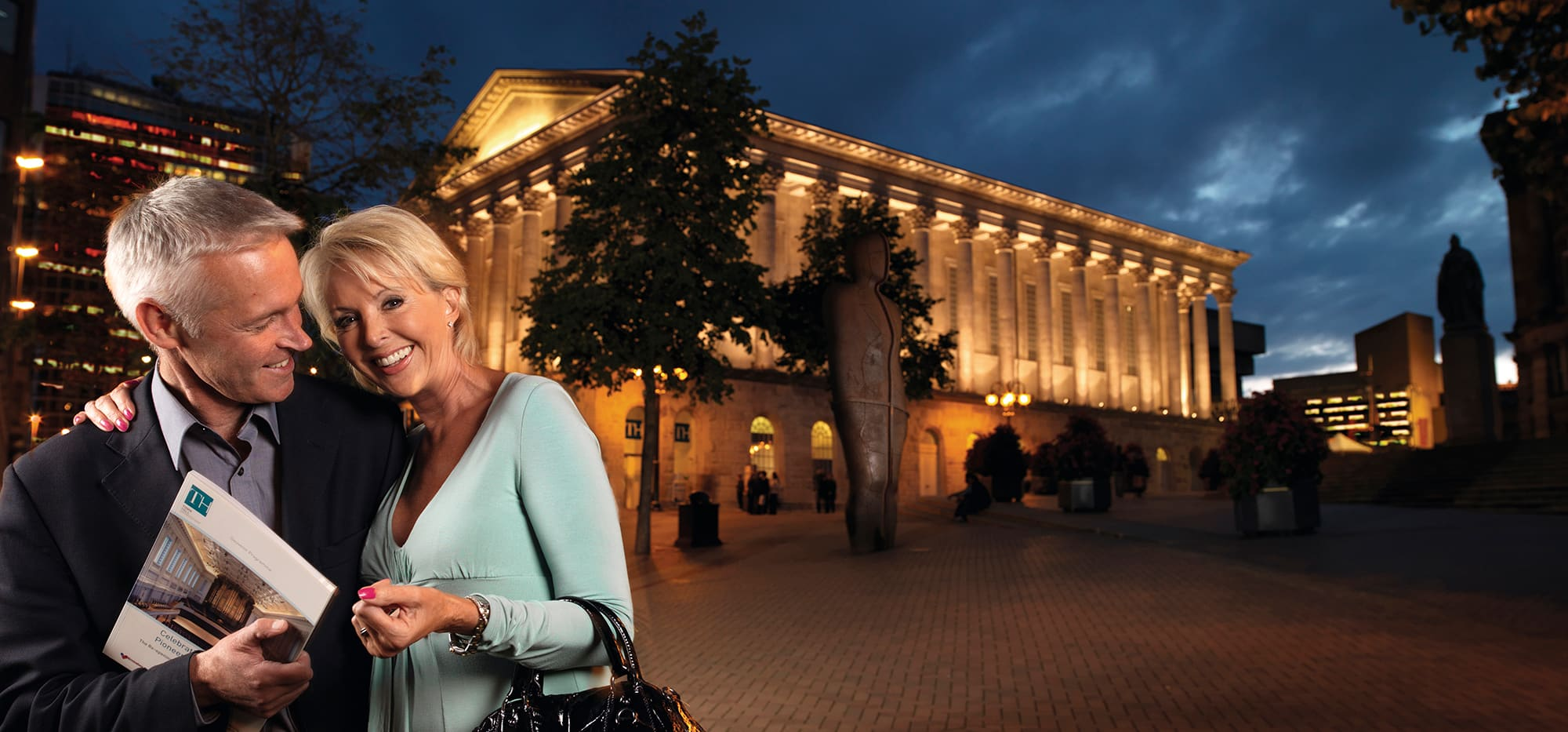 Couple on Night out at Birmingham Town Hall by Ross Vincent