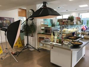 behind the scenes of samsung commercial microwave photographic shoot