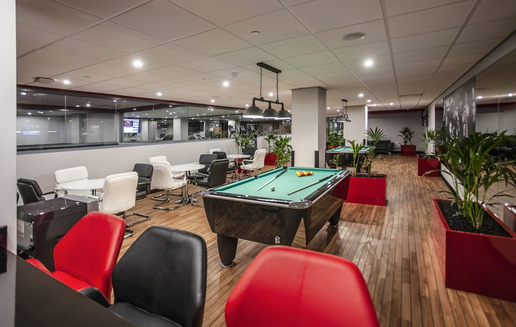 games and gym with study zones at Bristol student accommodation for Study Inn