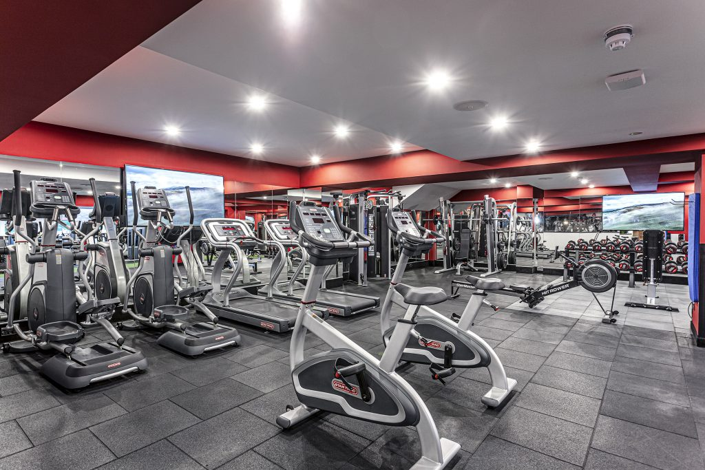student accommodation gym at Loughborough